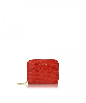 Small wallet red croco Alison
