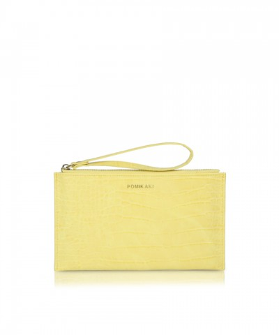 Pochette yellow croco Bella