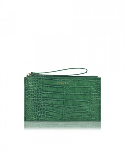 Pochette green croco Bella