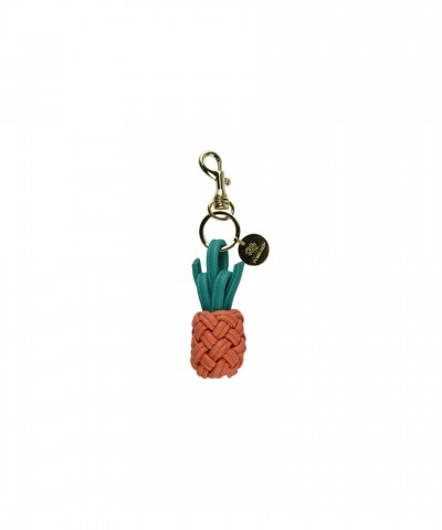 Pink Pineapple keyring