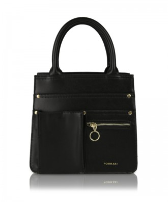 Black Utility Shopper handbag