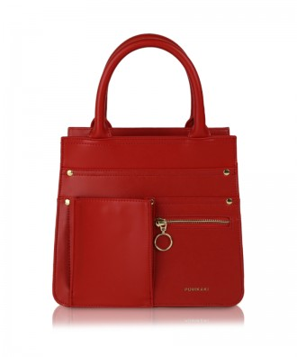 Red Utility Shopper handbag