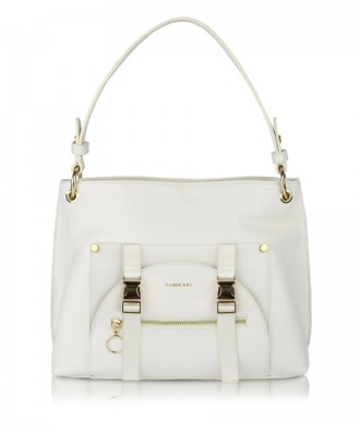 White Utility Hobo shoulder bag