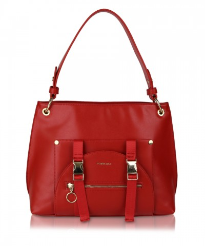 Red Utility Hobo shoulder bag