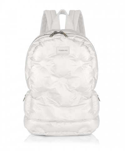 White Puffy backpack