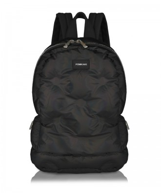 Matt black Puffy big backpack