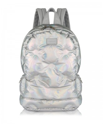 Holographic Puffy backpack