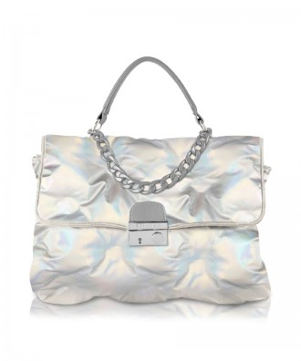Holographic Puffy handbag