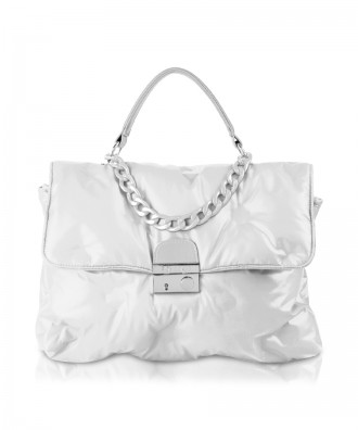 White Puffy handbag