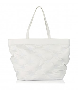 White Puffy shopper bag
