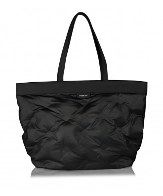 Shopper bag nera opaca Puffy