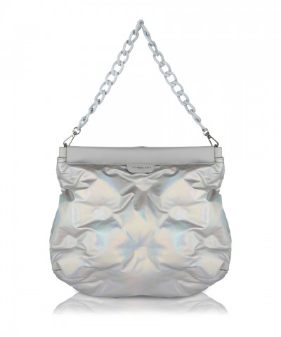 Holographic Puffy purse