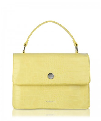 Yellow Gwen Croco handbag