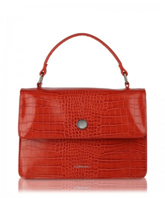 Red Gwen Croco handbag