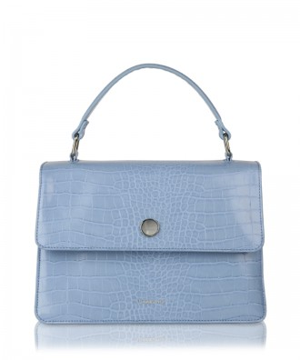 Sky blue Gwen Croco handbag