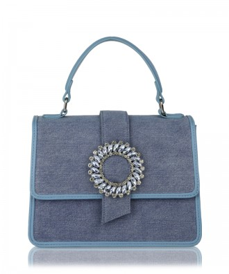 Light blue denim Gwen handbag