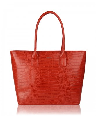 Red Alexandra shopper bag