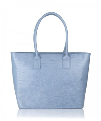 Sky blue Alexandra shopper bag