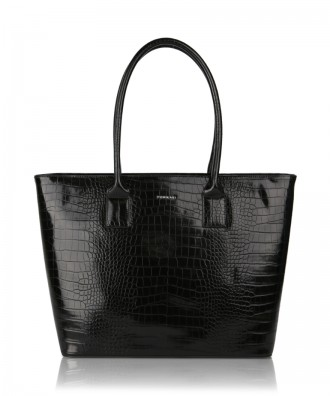 Black Alexandra shopper bag