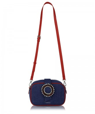 Denim Perla crossbody bag