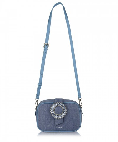 Light blue denim Perla crossbody bag