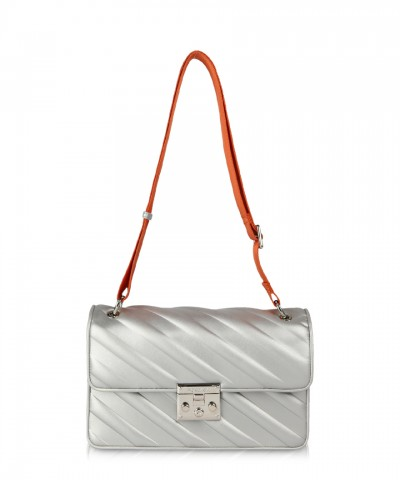 Silver Giulietta Stripes crossbody bag