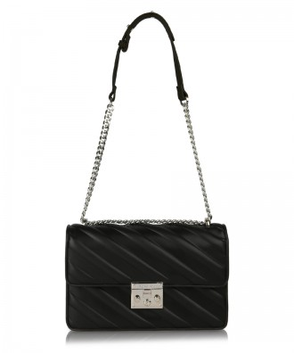 Black Giulietta Stripes crossbody bag