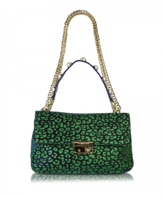 Green Giulietta Animalier crossbody bag
