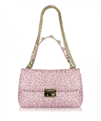 Pink Giulietta Animalier crossbody bag