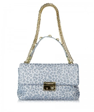 Light blue Giulietta Animalier crossbody bag