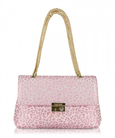 Pink Anna Animalier crossbody bag