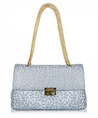 Light blue Anna Animalier crossbody bag