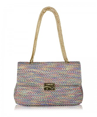 Borsa a tracolla multicolor-bianco Anna Tweed