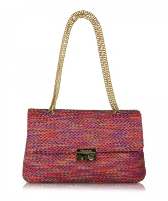 Multicolor-red Anna Tweed crossbody bag