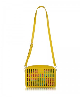 Yellow Kirigami crossbody bag