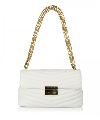 White Giulietta Quilted crossbody bag
