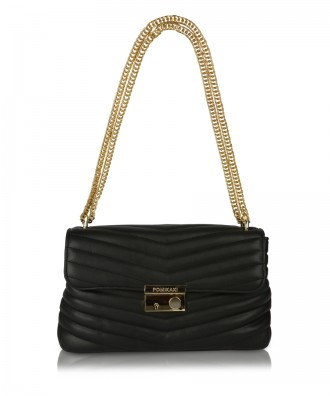 Black Giulietta Quilted crossbody bag