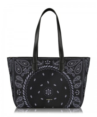 Black Hanky shopper bag