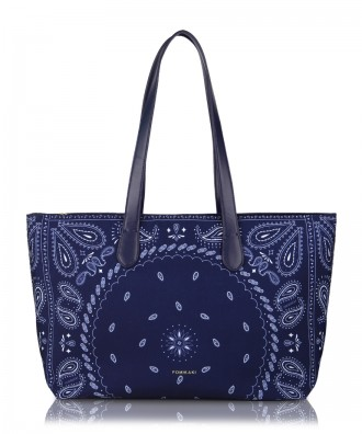Blue Hanky shopper bag