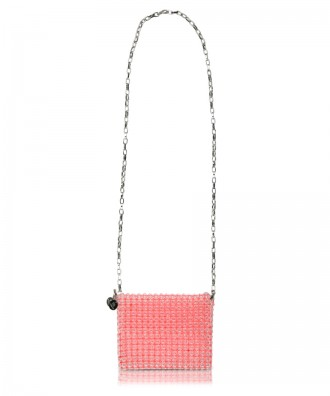Pink beads Gem crossbody bag