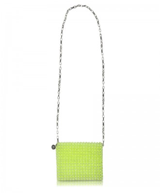 Green beads Gem crossbody bag