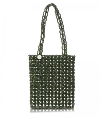 Green beads Gem handbag
