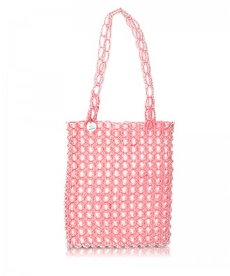 Borsa a mano in perline rosa Gem
