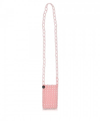 Pink beads Gem phone-holder