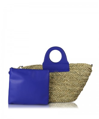 Orange/navy blue Ariel handbag
