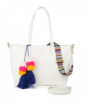 White Cora shopper bag
