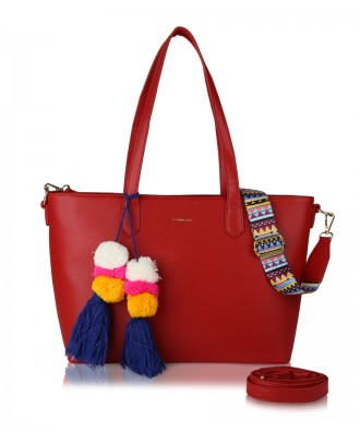 Red Cora shopper bag
