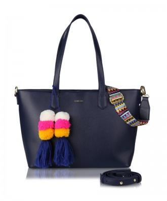 Shopper blu navy Cora