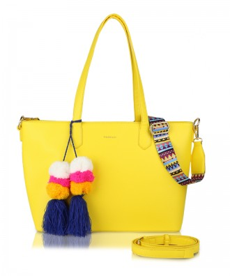 Yellow Cora shopper bag