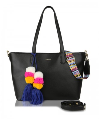 Shopper bag nera Cora